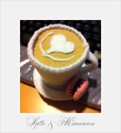 Latte and Macaroon By I Felt In Love  http://www.facebook.com/feltinluv