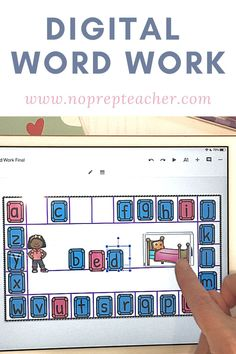 Looking for virtual word work activities to use during distance learning? These free digital word work centers will be perfect for you kindergarten, first grade, or second grade students. Use as cvc word literacy centers or for spelling. No need to worry about letter tiles storage or organization if you are using digital guided reading stations. Hands on activities so that your k, 1st, or 2nd grade kids can get the practice they need spelling sight words or following phonics patterns.