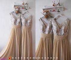 Sequin Prom DressesChampagne Mint Sequin van FashionStreets op Etsy
