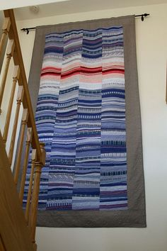 Made from recycled men's shirts. by Mamaka Mills Quilts, via Flickr (lots more memory quilts to see here)