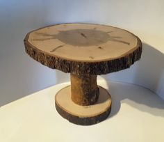 """13"""" by 12"""" Maple Wood Slab Cake stand, Table Display Stand, Center Piece"""