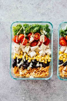 Meal Prep Recipes for the Week - Southwest Chicken Burrito Bowls