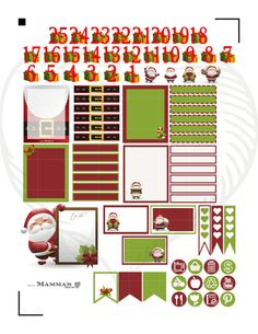 Hello and Welcome. The Silly Santa Christmas weekly sticker set includes all the basics you need to plan a Christmas layout in your planner.