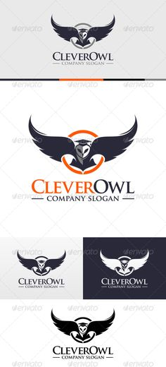 Clever Owl Logo Template — Vector EPS #clean #bird • Available here → https://graphicriver.net/item/clever-owl-logo-template/6614726?ref=pxcr