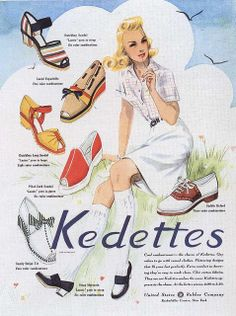 Ad for Kedettes shoes 1941, by Silverbluestar, via Flickr.