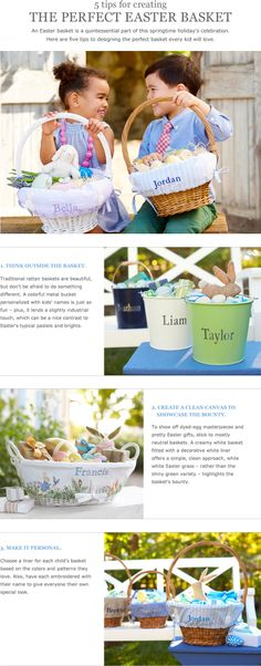 5 Tips for Creating the Perfect Easter Basket | Pottery Barn Kids