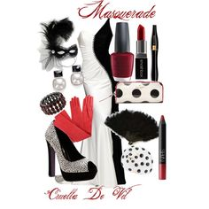"""Cruella De Vil Masquerade"" by kmacleod on Polyvore"