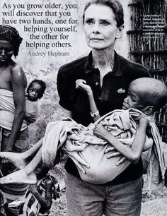 Audrey Hepburn, survivor and humanitarian
