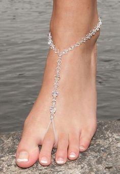 Clear Bjewelled Feet - Barefoot Sandals