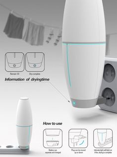 """Shaking Wash"" by Jung Seub Lee - personal laundry washer for travelers; works on both batteries and electric power"