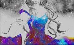 ~ Manga Anime, Anime Art, Anime Galaxy, Cute Anime Pics, Anime Kunst, Anime Kawaii, Fantasy Inspiration, Manga Drawing, Cool Girl
