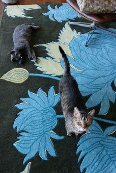 lovely rug in Amy Butler's house