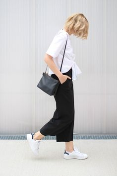 tifmys – Zara knotted shirt and culottes, Céline trio bag & Adidas Stan Smith sneakers. Photo by team Constantly_k