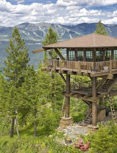 Fire Lookout home! I wouldn't want any uninvited hikers showing up at dinner. Just sayin'.