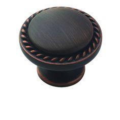 """Amerock - Oil Rubbed Bronze Super Values - 1 3/16"""" Diameter Allison Knob in Oil Rubbed Bronze"""