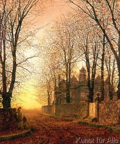 John Atkinson Grimshaw - In the Golden Olden Time, c.1870