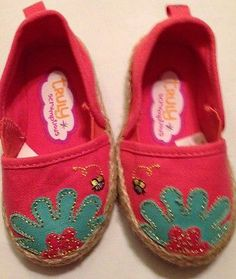 NEVER WORN TODDLER GIRL TRULY SCRUMPTIOUS ESPIDRILLS SIZE 4 SHOES