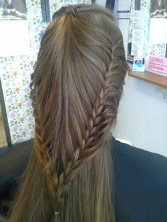 French braid from sides and mini ponytail on top
