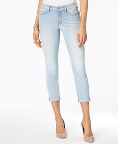 Nydj Alina Tummy Control Convertible Ankle Jeans - Blue 10