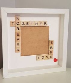 Together forever frame, true love frame, box frame, couples gift, gift for partner, Valentine's gift, engagement gift, keepsake frame by FrameitUnitedKingdom on Etsy #boyfriendgiftsideas