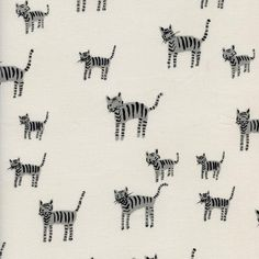 Cotton and Steel Black - White, Tiger, white dots on gray quilting fabric