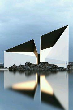 Cultural Architecture, Art Et Architecture, Minimalist Architecture, Futuristic Architecture, Beautiful Architecture, Contemporary Architecture, Contemporary Interior, Architecture Geometric, Monumental Architecture
