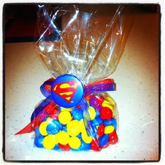 Superman party favor Superman Birthday Party, Batman Party, 6th Birthday Parties, Superhero Party, Boy Birthday, Superman Party Favors, Superman Wedding, Birthday Ideas, Superman Baby Shower
