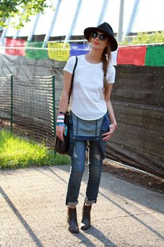 Lollapalooza Street Style Snaps - Awesome way to rock a jumper.