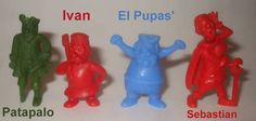 Old plastic figurines included in Kellogg's Cereals in the early 1960s Toys, Vintage Box, Vintage Stuff, Food Advertising, Cereal, Dinosaur Stuffed Animal, Childhood, Christmas Ornaments, Retro