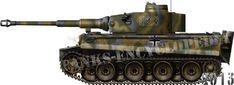 "Panzerkampfwagen Tiger Ausf.H/E Frühes Modell (early production), 8th Kompanie SS Panzerdivision""Das Reich"", Russia, April 1943."