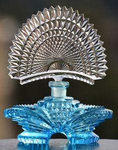 Blue Shamrock Perfume Bottle Signed Pesnicak   eBay