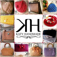 "Handmade crochet bags, earrings & accessories by ""Katy Handmade""  facebook.com/katybijouxhandmade katyhandmade.blogspot.it"