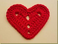Lada Crochês e Pinturas: Passo a passo:Coração de crochê
