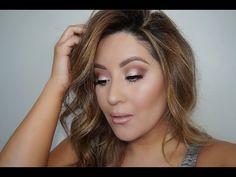 Shimmery Eye | Full Face using Tartelette In Bloom Palette - YouTube