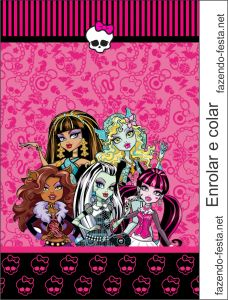 Lembrancinhas personalizadas da rcbx monster high kit completo monster high in pink free printable kit bookmarktalkfo Choice Image