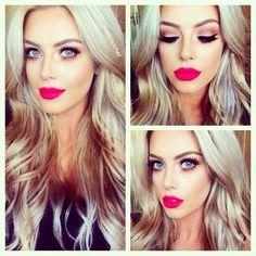 hair. lip color.