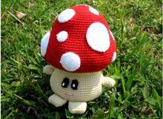 Mushroom - Free Amigurumi Pattern here: http://de.slideshare.net/KerstinMy/mushroom-16221730?related=7