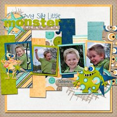 My Silly Little Monster - digital scrapbooking - gallery - upload your scrapbook pages and layouts