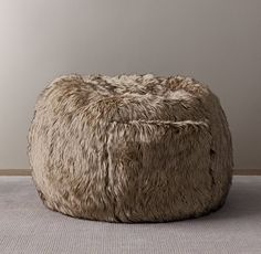 Luxe Faux Fur Bean Bag Lion