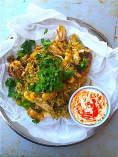 Joghurtos sült karfiol pástétom   Chili és Vanília Quinoa, Chili, Curry, Mexican, Cooking Recipes, Ethnic Recipes, Yum Yum, Bulgur, Curries