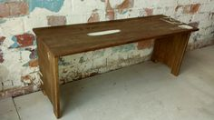 """Troy Bailey Design """" Scooters Bench seat"""" Recycled Uganden Myrtle."""