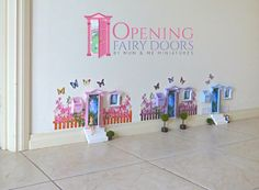 Fairy Door Village from Opening Fairy Doors. Australian made. Opening Fairy Doors, Nursery Inspiration, Miniature Dolls, Doll Houses, My Children, Beautiful Hands, Fairies, Fairy Tales, Kids Room