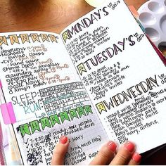 @colorfullyenthused has it going on with this spread! Love the layout!  | bujo…