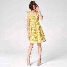 Hallhuber jacquard kleid gelb