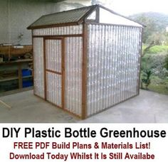 Plastic bottle DIY greenhouse