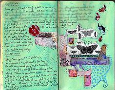 Art Journal - Blue Butterflies    Please LIKE, REPIN, SHARE :) !    wow!