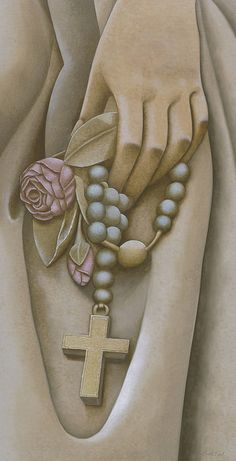 Rosary Statue Realism Oil Painting Commission by Camille Engel by CamilleEngelArt, via Flickr
