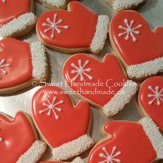 Sweet Handmade Cookies: snowflake mitten cookies