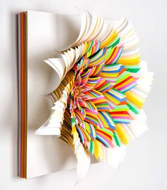 Jen Stark's Paper Art Sculptures With Construction Paper