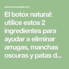 El botox natural: utilice estos 2 ingredientes para ayudar a eliminar arrugas, manchas oscuras y patas de gallo